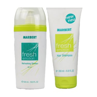 Marbert Damen-Set Fresh Emotion 500 ml  ShowerGel + 200 ml  Hair Shampoo