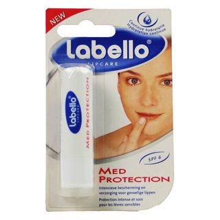 Beiersdorf Labello Lipcare Med Protection Farbe weiss runde Kappe 5,5 ml