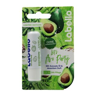Beiersdorf Labello Lippenpflegestift Limited Edition Lets Avo Party Farbe weiss runde Kappe 5,5 ml