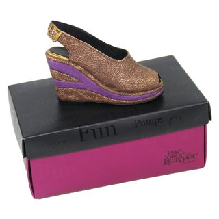 Just the right Shoe Art. 25098 Modell Golden Leaf braun + lila